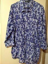 Quality  Ladies Sportscraft Cotton  / Silk Shirt / Blouse Size18 EUC