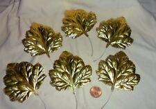 Vintage Gold Foil Leaves 3 x 3 made in Japan set of 6