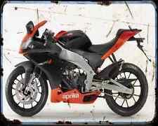 APRILIA Rs4 11 A4 Metal Sign moto antigua añejada De