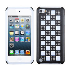 For iPod Touch 6 6th Gen Hybrid Rubber Hard Checker Case Phone Cover Accessory