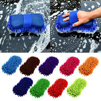 Microfiber Chenille Car Wash Sponge Vehicle Care Washing Brush Pad Cleaning Tool