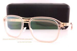 Brand New ic! berlin Eyeglass Frames Pablo L. Rose-Gold-Ice-Tea For Men Women