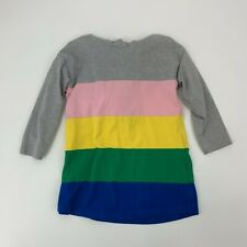Hanna Andersson Girls Size 4 100 Hooded Colorblock Dress Pullover Tunic Cotton