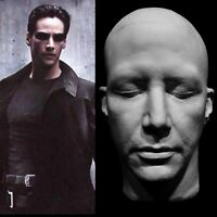 "Keanu Reeves Life Mask Cast""John Wick:Chapter 3 The Matrix""Neo"" Face Cast Rare!!"