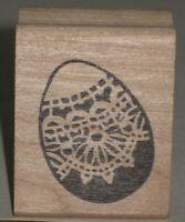 "Stamp Affair Rubber Stamp Easter Egg Wood Mount 1.25"" x 1.75"""