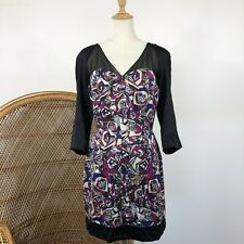 Olivia Rubin London Dress Size 14 Designer Silk Print Cocktail Formal Party
