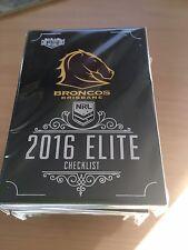 2016 NRL ESP Elite FULL SET of Common Cards (192 Total)