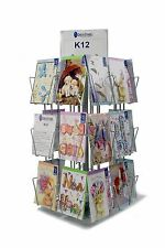 5 x 7 (C6) Silver Greeting Card Shop Counter Stand (24 pocket) (K12)