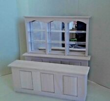 "Dollhouse Miniature 3 pc Bar Mirrored back 8 1/2"" long unfinished basswood 1:12"