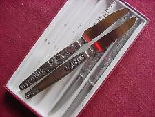 4 Couteau à fruits plaqué argent 15, 8 cm Norvège Tampon PEWTER TNN H DU