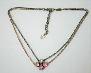Sabika  Choker Necklace Retired Pendant chain Crystal S11 2 Strand