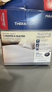 Sunbeam Premium Quilted Electric Heated Warming Mattress Pad - Full Size