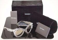 RARE $1360 Ltd Edn DOLCE & GABBANA Filigree Crystal Sunglasses DG 2134-B-M 05/6G