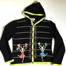 Jack B Quick Sweater Football Cheer Hoodie Cheerleader Beaded Petite Medium PM