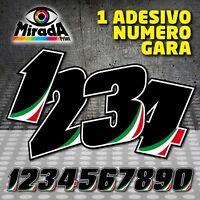 Adesivi / Stickers NUMERO GARA MOTO PISTA CIRCUITO CARENA CUPOLINO GP SBK ITALY