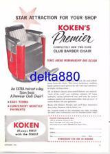 1964 Barber Shop Full Page Color Print Ad Koken's Premier Barber Chair