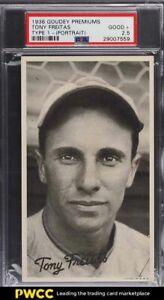 1936 Goudey Premiums Type 1 Tony Freitas PORTRAIT PSA 2.5 GD+