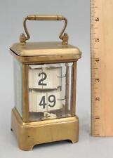 Antique Circa 1900 Gold Gilt Brass PLATO FLIP Clock, Working ... No Reserve!