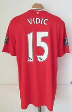 MANCHESTER UNITED 2011/2012 HOME FOOTBALL SHIRT SOCCER JERSEY #15 VIDIC NIKE XL