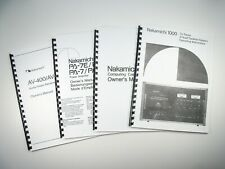 New listing Nakamichi 1.5 Cassette Deck Owners Instruction Manual