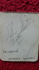 MUSICAL GROUP - THE PETERS SISTERS AUTOGRAPHS