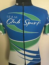 New Sugoi Cycling Jersey Mens Small S Blue Green Full Zipper