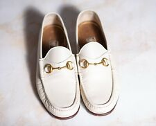GUCCI HORSEBIT CERTIFIED Loafers Shoes White 10UK/11US/44EU G Width