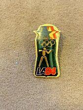 Vintage 1984 Los Angeles US Olympic Shooting Team Lapel hat Pin Tie Tack Pinback