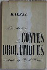 """1955 HONORÉ DE BALZAC Devil's Heir """"Les Contes Drolatiques"""" R.A. Brandt Illus DJ"""