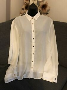 NEW LOOK WHITE BLOUSE SHIRT SIZE 16