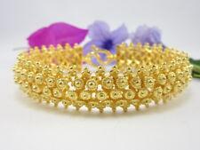 "Stunning Detail Thai PIKUN Flower 6.75"" Bracelet 24K Gold GP Baht Jewelry GT10"