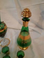 Handmade VASE ENAME Decorated with Gold