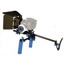 DSLR Follow Focus + 15mm Rod Support + Matte Box Rig for 7D 5D II III D90 D3100