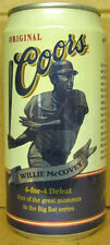 COORS BEER Can WILLIE McCOVEY Baseball Big Bat Series, Golden, COLORADO 1997, 1+