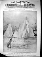 Old British Yacht Racing King'S Cup Cowes Meteor Victoria Albert 1905 20th
