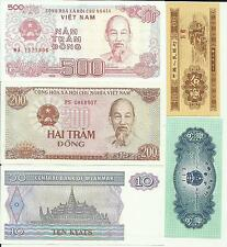 Wereld: 12 nieuwe biljetten. China-Myamar-Mongolie....