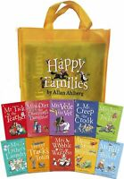 Happy Families Collection Allan Ahlberg 10 Books Set in a Bag-Brand New Set