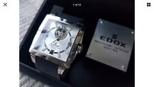 NEW EDOX AUTOMATIC CLASSE ROYALE OPEN HEART MEN'S WATCH #85007 . STORE DISPLAYED