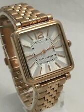 Marc Jacobs Ladies Vic Rose Gold Tone Steel Band Silver Dial Watch MJ3514