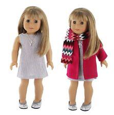 "Pzas Toys American Girl Doll Clothes - 5 Piece Winter Coat Set fits 18"" Dolls,"
