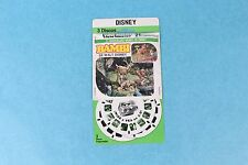 VINTAGE VIEW-MASTER 3D REEL PACKET B400-S DISNEY'S BAMBI IN SPANISH MINT/SEALED