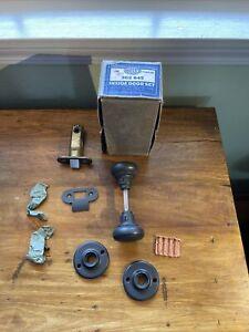 Vintage Polished Wrought Steel Glass Corbin Inside Door Set - 302 645 W Box, NOS