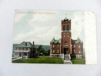 Vintage 1907 St. Josephs Church and Rectory Athens PA Postcard AC Bosselman NY