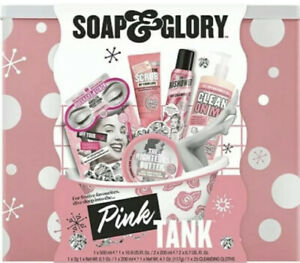 Soap & Glory Pink Tank Gift Set Brand New.6 Full Size Products!Retails For $58
