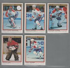 1990-91 O-Pee-Chee Premier Montreal Canadiens Complete Team Set (5)