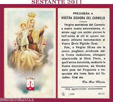 65 SANTINO MADONNA DEL CARMINE NOSTRA SIGNORA CARMELO EB /1099 EL