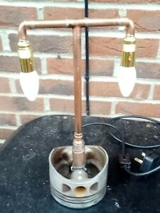 Bespoke Steampunk Piston Desk Lamp With On/Off Rocker Switch P.A.T. Tested