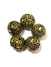 9 PCS 11MM ANTIQUED BRASS BALI BEAD B 710