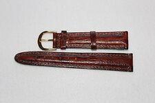 Eddie Bauer Genuine Leather Wristwatch Band Strap  Brown 18mm Stitched New