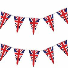 10m GB Union Jack Triangle Flag Bunting Banner Royal Wedding Party Decorations